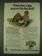 1978 Cycle Dog Food Ad - Dog Outgrow