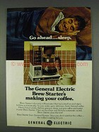 1978 General Electric Brew Starter Coffee Maker Ad