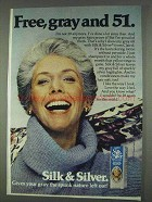 1978 Clairol Silk & Silver Hair Color Ad - Free, Gray