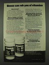 1978 Stresstabs 600 Vitamins Ad - Stress Can Rob
