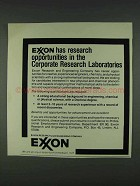 1978 Exxon Research and Engineering Company Ad