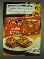 1978 Roman Meal Waffles Ad - Whole Grain Goodness