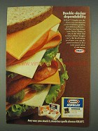1978 Kraft Singles Cheese Ad - Double-Decker