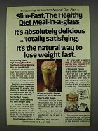 1978 Slim-Fast Diet Meal Ad - Healthy Meal-in-a-Glass
