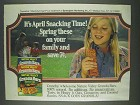 1978 Nature Valley Granola Bars Ad - April Snacking