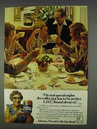 1978 Maxwell House A.D.C. Coffee Ad - Special Nights