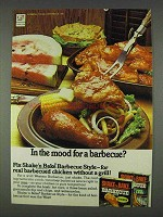 1978 Shake 'n Bake Barbecue Style Ad - In the Mood