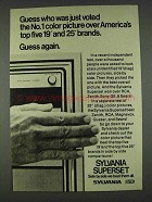 1978 Sylvania Superset TV Ad - Voted No.1 Color Picture
