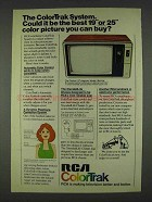 1978 RCA ColorTrak Cosmos Model FB497W TV Ad