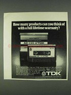 1978 TDK Cassette Tape Ad - How Many Products?
