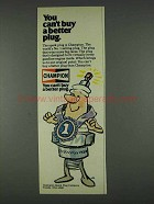 1978 Champion Spark Plugs Ad - You Can't Buy Better