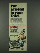 1978 Champion Spark Plugs Ad - Put Friend In Your Ford