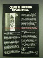 1978 Commercial Union Assurance Companies Ad - Locking Up America