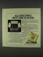 1978 Inglenook Charbono Wine Ad - All Good Things
