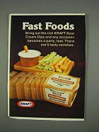 1978 Kraft Bacon & Horseradish Sour Cream Dip Ad