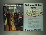1978 U.S. Armed Forces Ad - They're Going Places