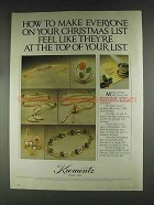 1979 Krementz Jewelry Ad - At The Top of Your List
