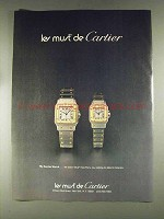 1979 Le Must de Cartier Santos Watch Ad