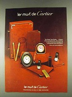 1979 Le Must de Cartier Jewelry Clocks & Lighters Ad