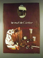 1979 Le Must de Cartier Jewelry, Clocks & Lighters Ad