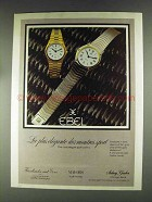 1979 Ebel Flatline Quartz Watch Ad
