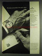 1979 Rolex Day-Date Oyster Watch Ad - Lamar Hunt