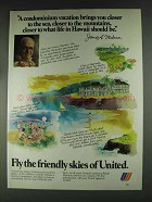 1979 United Airlines Ad - A Condominium Vacation