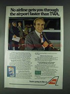 1979 TWA Airlines Ad - Through The Airport Faster