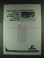 1979 Iberia Airlines Ad - Second-Largest in Europe