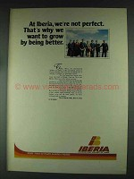 1979 Iberia Airlines Ad - We're Not Perfect