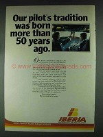 1979 Iberia Airlines Ad - Our Pilot's Tradition