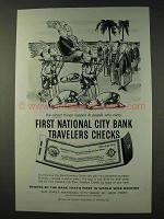 1959 First National City Bank Travelers Checks Ad - Nicest Things