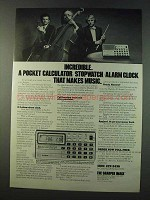 1979 Casio Melody-80 Calculator Stopwatch Clock Ad