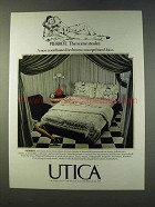 1979 Utica Pierrot and Pipeline Collection Linens Ad