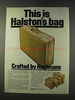 1979 Hartmann Ultrasuede by Halston Luggage Ad