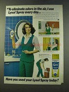 1979 Lysol Disinfectant Ad - Eliminate Odors in Air