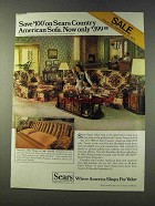 1979 Sears Country American Ashcroft II Sofa, Chair Ad