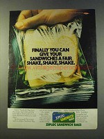 1979 Ziploc Sandwich Bags Ad - Give A Fair Shake