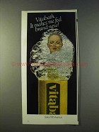 1979 Vitabath Soap Ad - Makes Me Feel Brand New