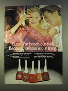 1979 Cutex Night Moods Nailcolors Ad - Knock-Out Nails