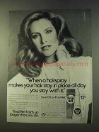 1979 Clairol Final Net Hair Spray Ad - Stay in Place