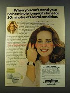 1979 Clairol Condition Ad - Can't Stand Your Hair