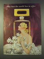 1979 Evyan White Shoulders Perfume Ad - The Best