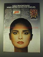 1979 Aziza Natural Lustre Lipstick Ad - For Your Lips