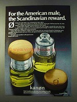 1979 Kanon Cologne and After Shave Ad - Scandinavian