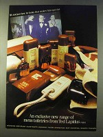 1979 Ted Lapidus Mens Toiletries Ad - Exclusive Range