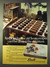 1979 Lindt Assorted Chocolates Ad - Old Swiss Recipes