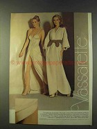 1979 Vassarette Velvelour Robe and Satinessence Gown Ad