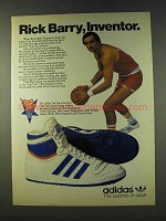 1979 Adidas Top Ten Basketball shoe Ad - Rick Barry