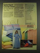 1979 Eddie Bauer Ad - Comforters, Pillows, Robes, Sox